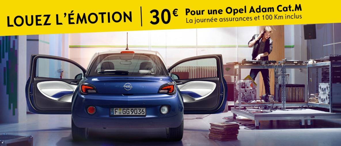 Louez l'émotion - Pour une Opel Adam Cat.M