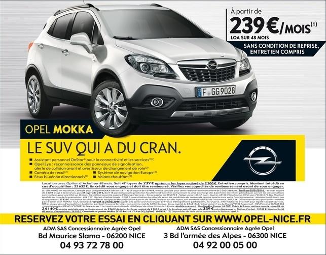 Mokka X, Opel, SUV