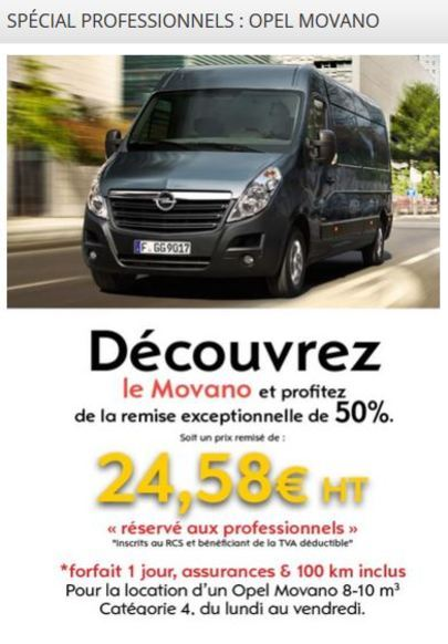 Opel Movano - Spécial professionnels