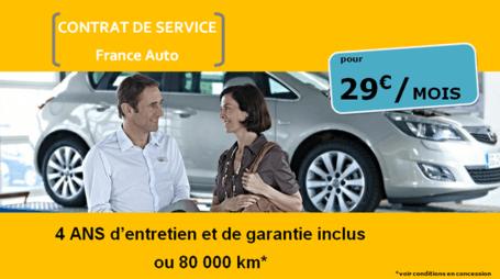 Contrat de service France Auto