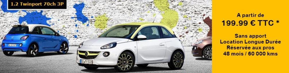 Opel ADAM - Offres de Location Longue Durée